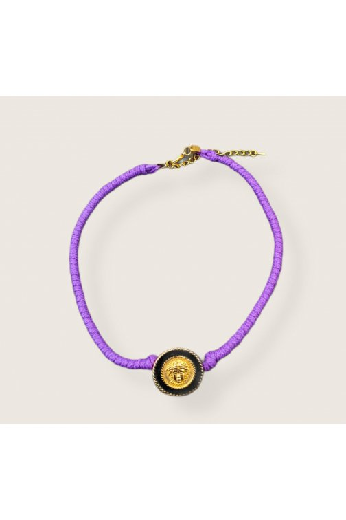 Purple choker necklace with...