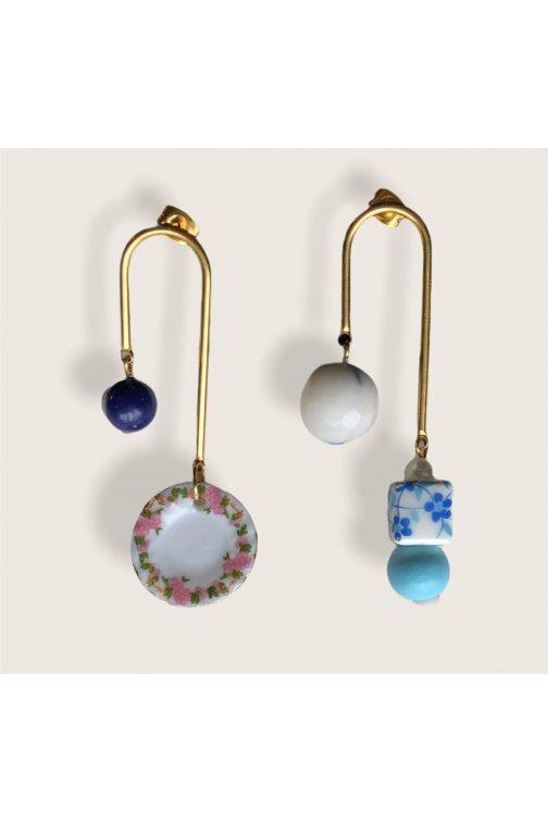 Geometrical earrings with...