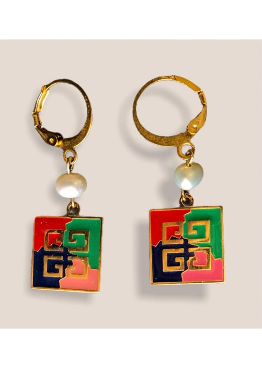 Upcycled Givenchy earrings