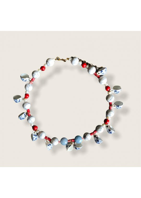 Bicolor mini cups necklace