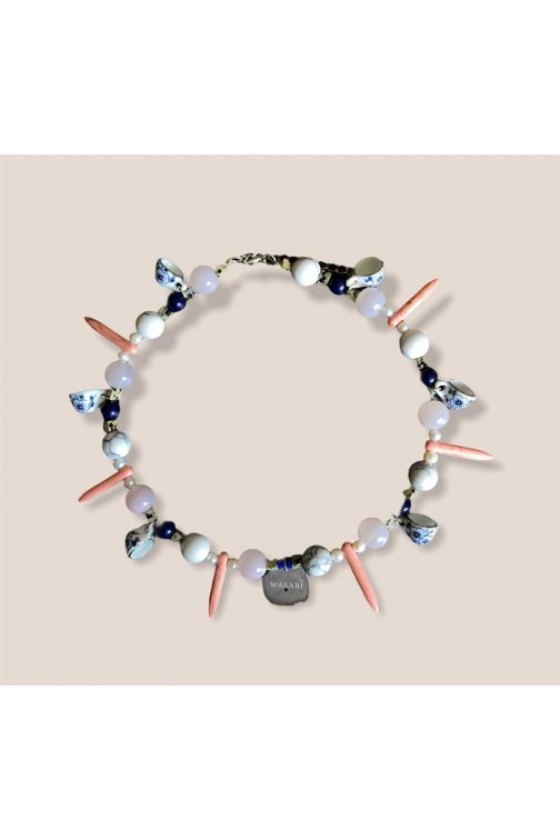 Pink and blue tones necklace