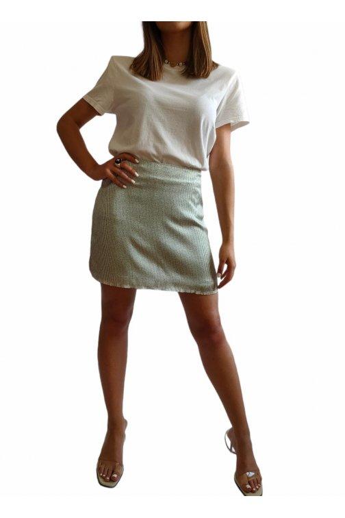 Mini white and green skirt