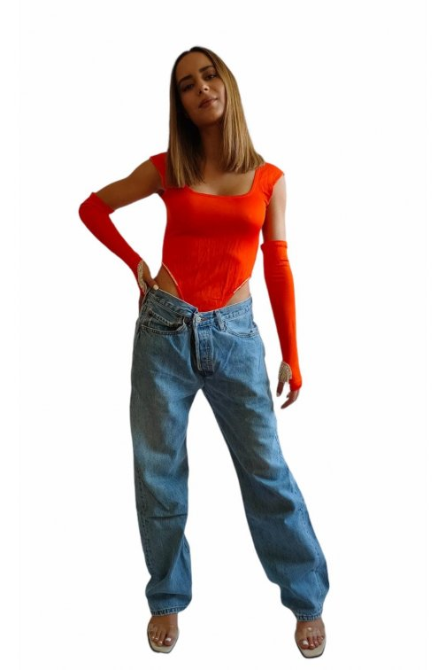 Fushia orange body with...