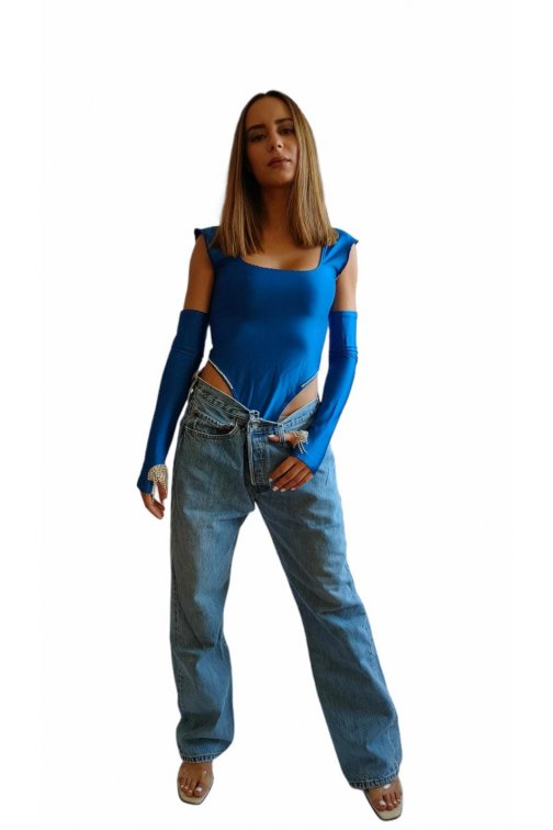 Klein blue body with long...