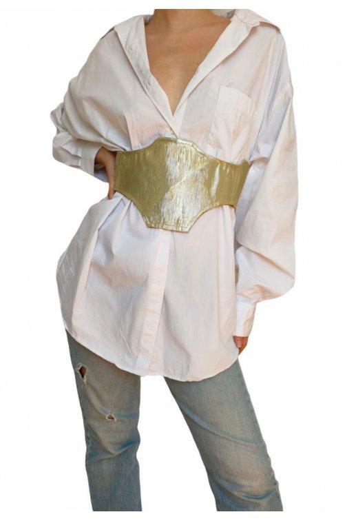 Ceinture corset en lurex