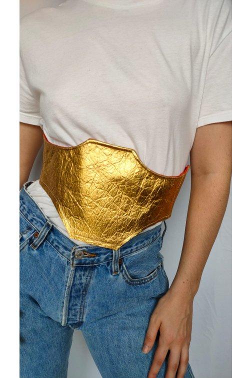 Golden belt in Pinatex...