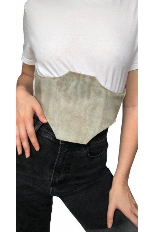 Lurex corset belt