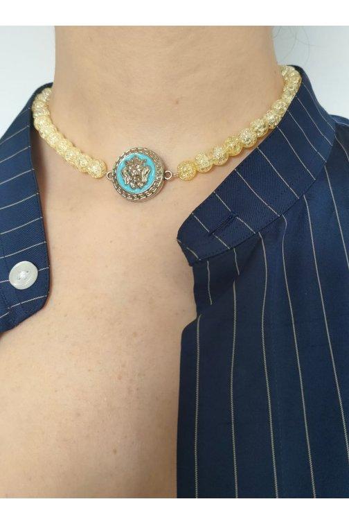 Collier jaune - Versace...