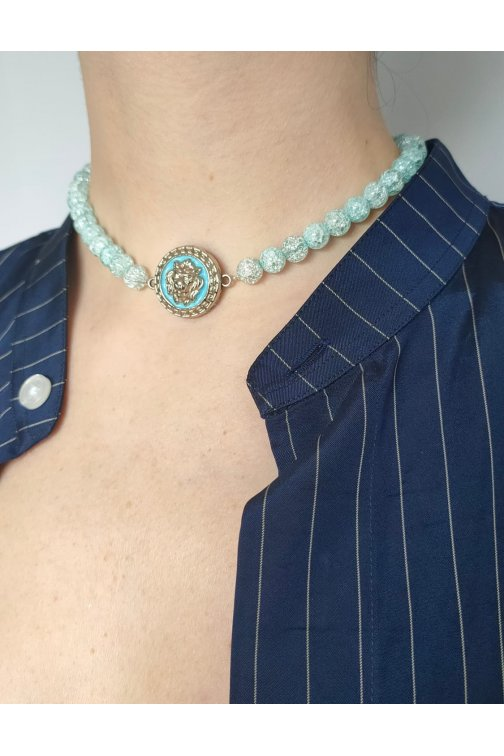 Collier bleu ciel - Versace...