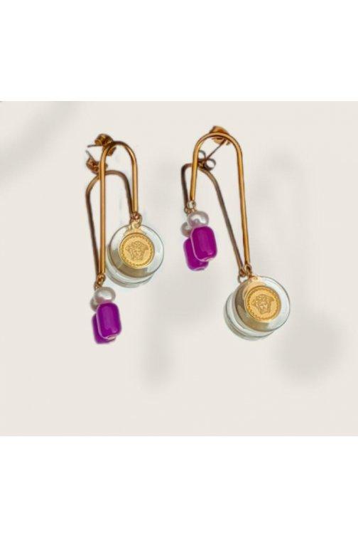 Geometric earrings with...
