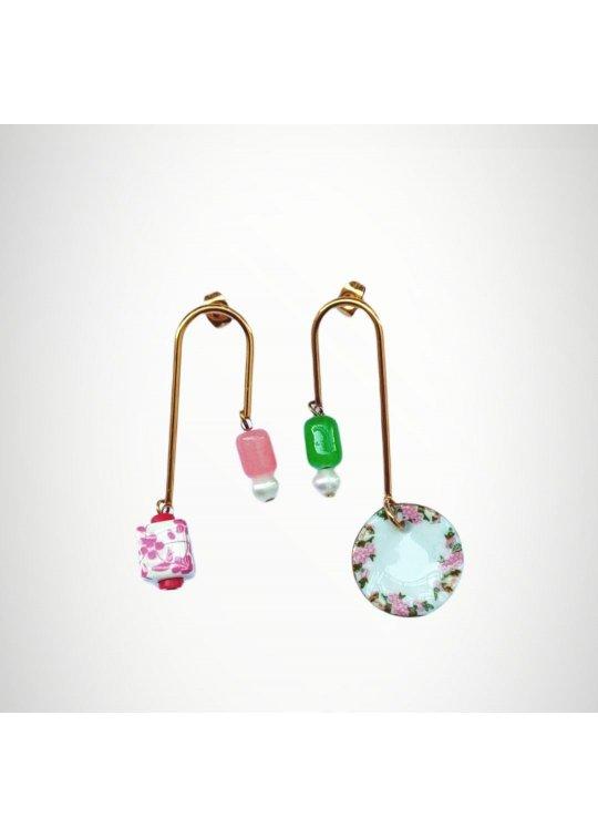 Geometrical earrings - ceramic design