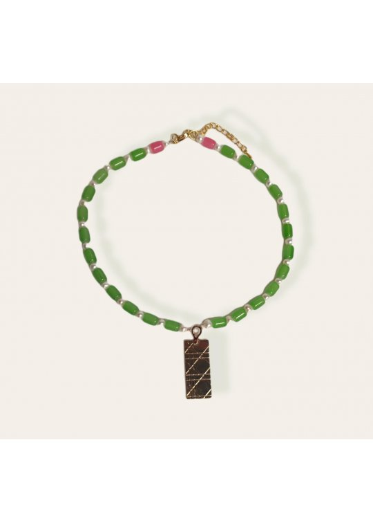 Bicolor nechklace with upcycled Dior...