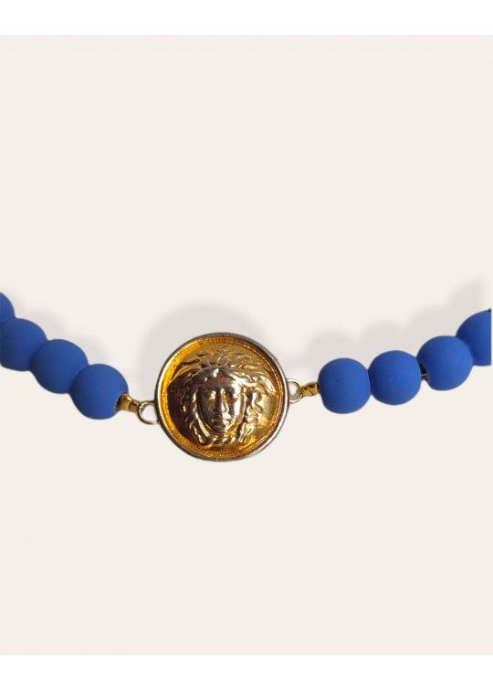 Matt Klein blue necklace with...