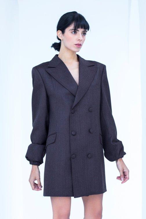 Manteau, Robe croisée rouge...
