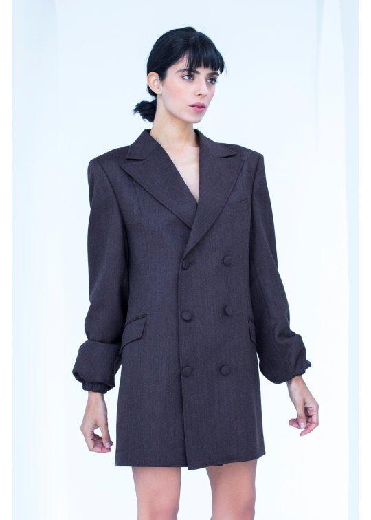 Manteau, Robe croisée rouge bordeaux