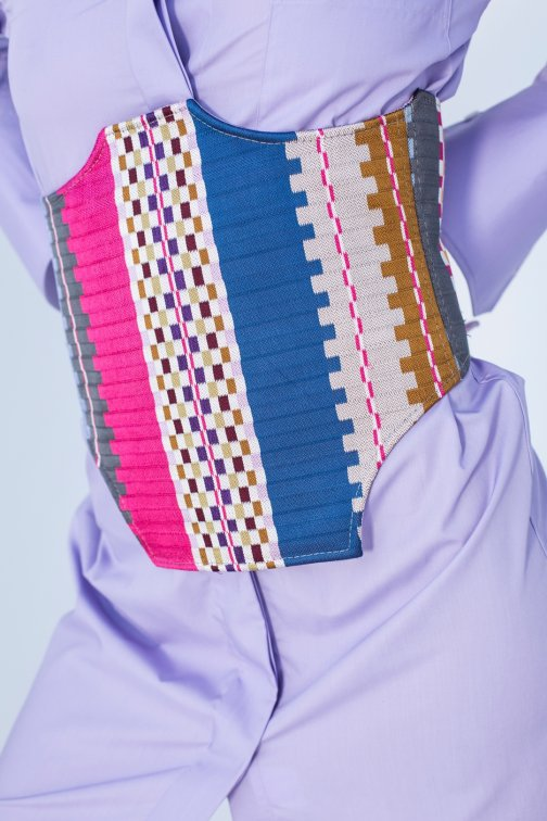 Ceinture, corset Patchwork