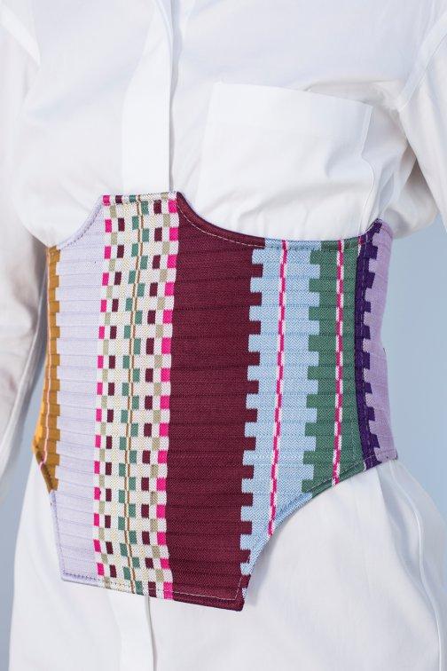 Ceinture, corset Parchwork