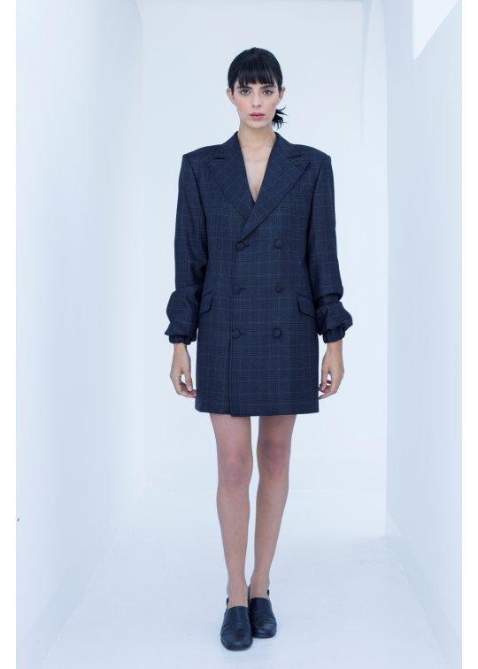 Manteau/ robe tailleur croisée à...