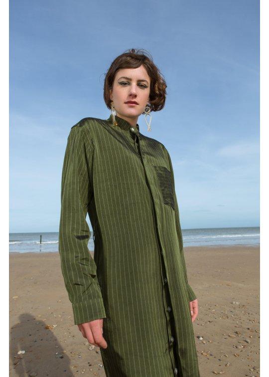 Robe chemise viscose rayée - Benjamin