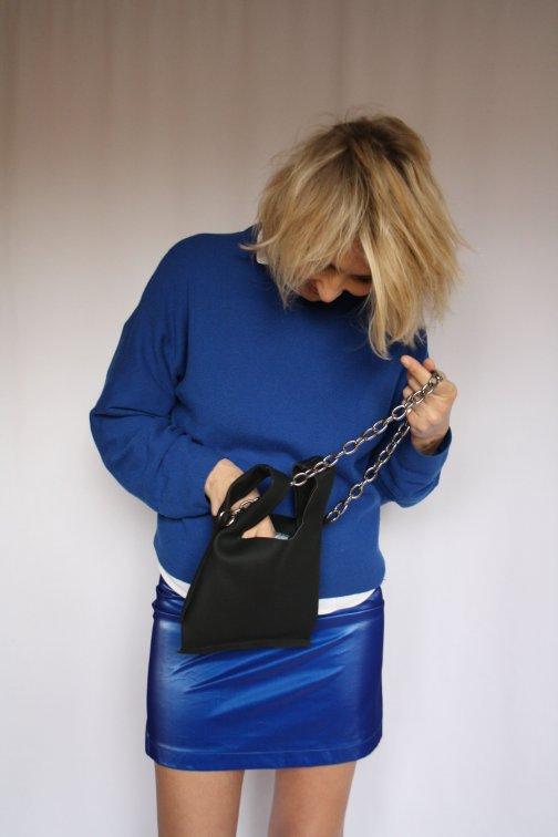Mini Jupe Droite Bleu Klein