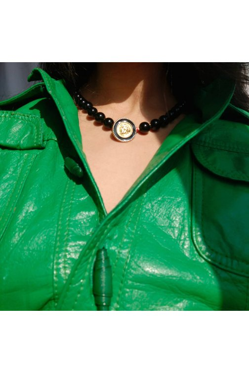 Black necklace with...