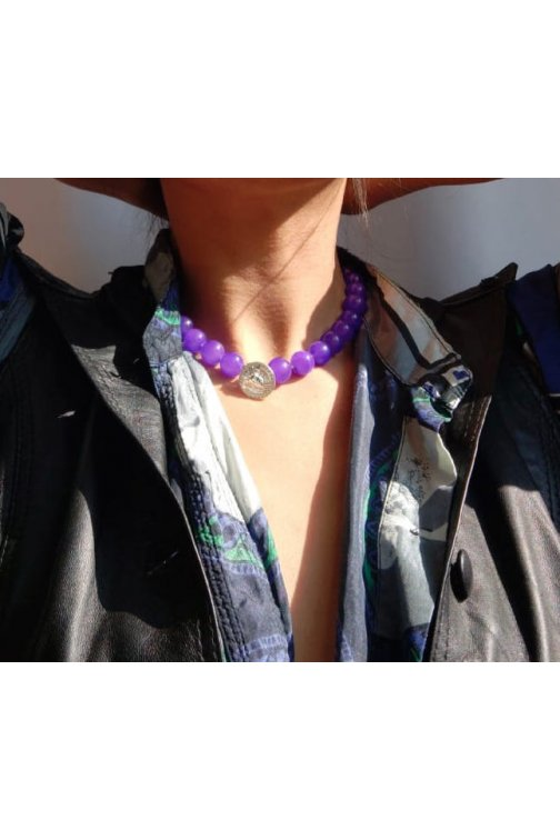 Velvet necklace with...