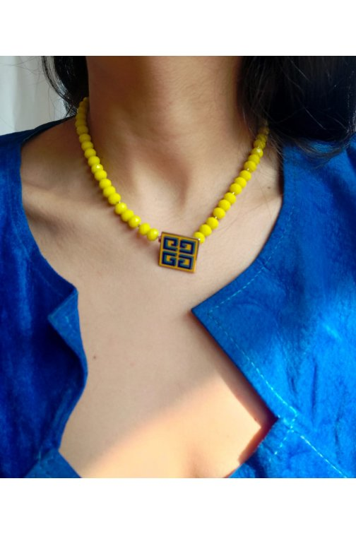 Yellow necklace with...